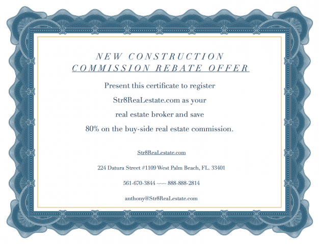 New Construction Commission Rebate